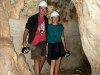 Exploring Mimbi Caves together, southern Kimberley WA