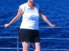 Nirbeeja relaxes on our tour to swim with Whalesharks, off Exmouth WA 2009