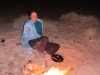 Nirbeeja relaxes after a long day, Rudall River Ntl Pk, WA 2009