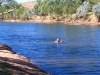 Peter takes a dip in Cajeput Pool, Mornington Wilderness Conservancy, the Kimberley WA