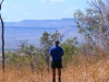 Peter takes in his first glimpse of the Cockburn Ranges, north eastern Kimberely.  The day was very hazy but the view was still gorgeous.
