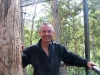 Peter halfway up the Bicentennial Tree, Warren Ntl Pk, South West WA 2008