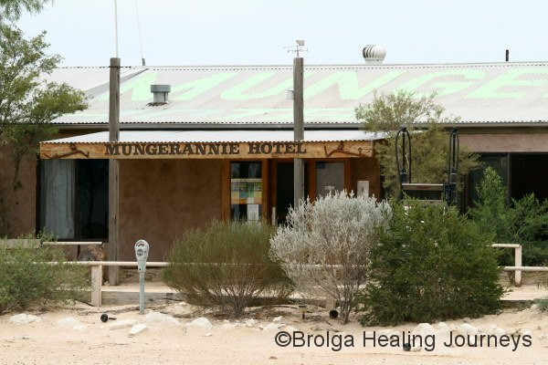 Mungerannie Hotel, about halfway along the Birdsville Track.  Love the parking meter!