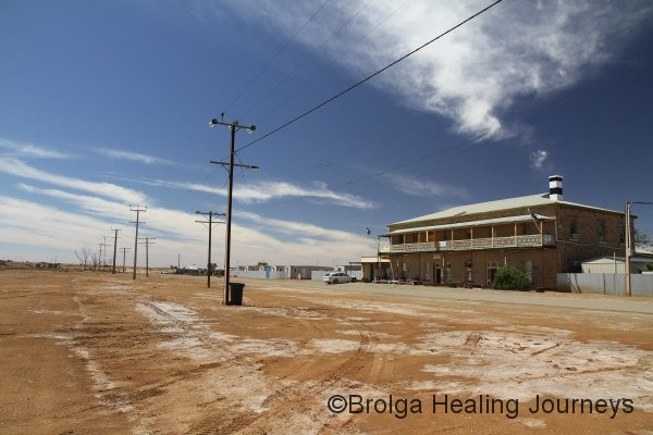Marree Hotel.  There isn't a lot to see at Marree, which marks the southern start of the Birdsville Track.