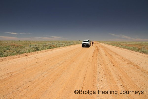 On the Birdsville Track.  Some sections were more like a dirt highway than a track.