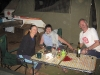 Nirbeeja with Merrilyn & Graham.  Spilt red wine on table courtesy of the photographer.