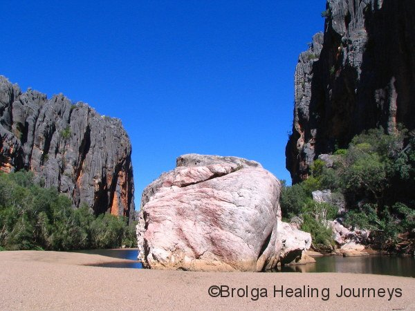 Bandangnan – the 'boss rock' of Windjana Gorge.  This rock is literally as big as a house