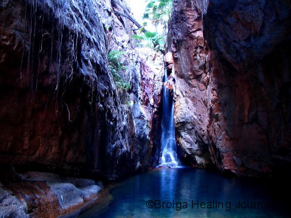 The sublime waterfall and pool at the head of El Questro Gorge.  Well worth the difficult walk.