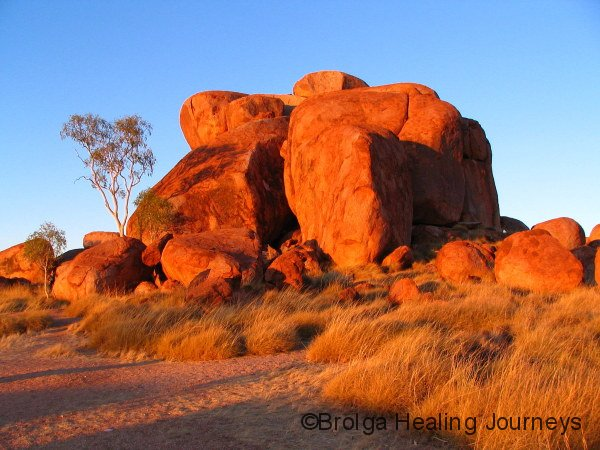 The Devils Marbles (Karlu Karlu) at sunrise