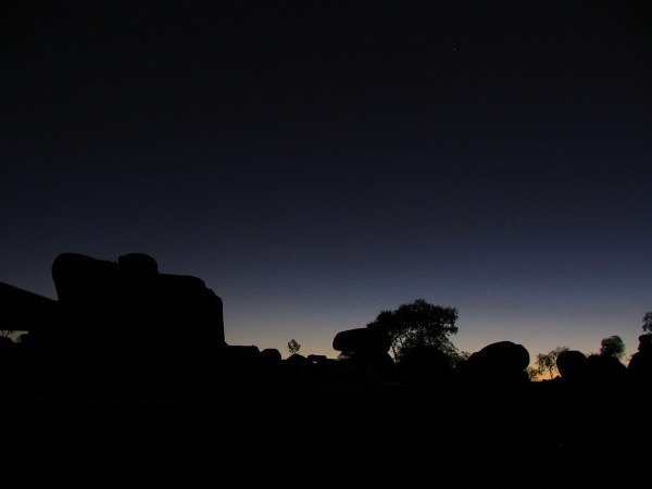 Sunset at Karlu Karlu (Devils Marbles).