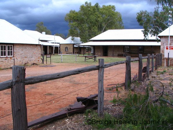 Storm clouds above the Old Telegraph station, Alice Springs