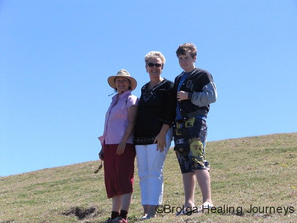 Whale-watchers.  Nirbeeja, Barb & Sam