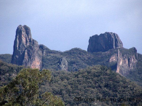 View of the Grand High Tops from our campsite, Warrumbungle Ntl Pk