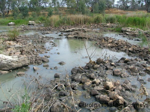 Ancient fish traps at Brewarrina