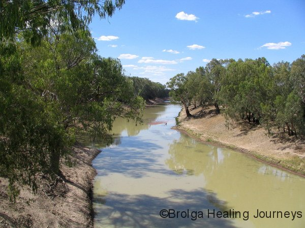 View of Darling River looking north from Louth Bridge