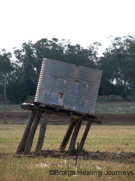 """Tank stand – """"Hard Times"""" Property (yes, really), near Mt Kaputar"""