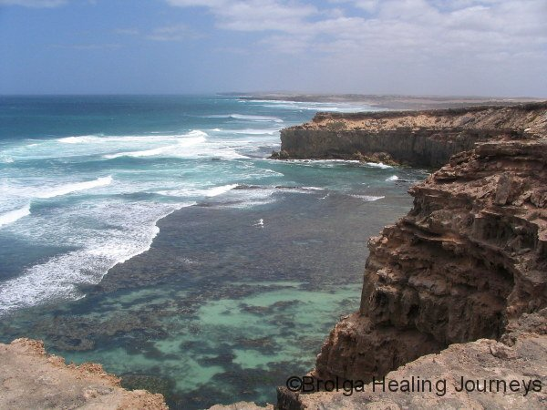 View of coastline near Sheringa Beach, western Eyre Peninsula