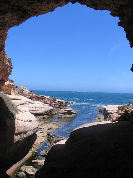View from inside Talia Cave, western Eyre Peninsula