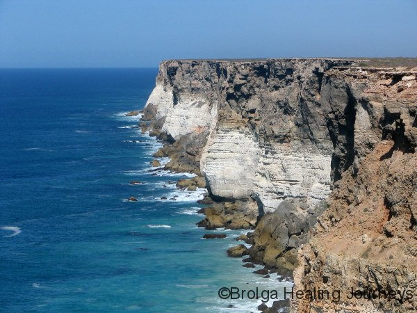 The Nullarbor Cliffs - a spectacular sight.