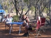 Peter relaxes with Terry & Claire at 'free-camp' between Esperance & Albany