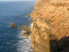 Nullarbor cliffs – Nirbeeja the tiny figure at top right