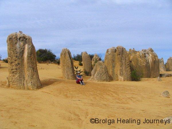Nirbeeja at base of some pinnacles, Nambung Ntl Pk