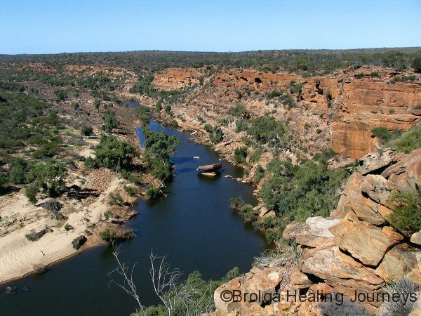 Gorge country along Murchison River, Kalbarri Ntl Pk