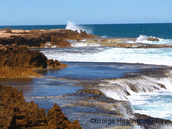 Beautiful but dangerous coastline near Blowholes