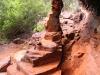 A precarious natural pillar, Dales Gorge