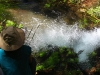 Nirbeeja watches spring water bubbling up at Chinderwariner Pool