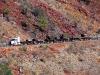 Close-up of road train, Munjina gorge