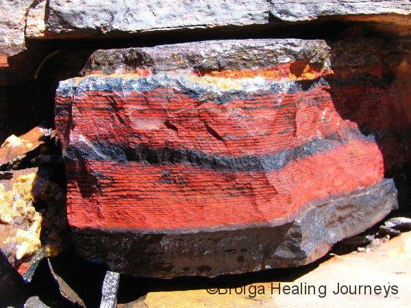 Pattern in rock, Kalamina Gorge