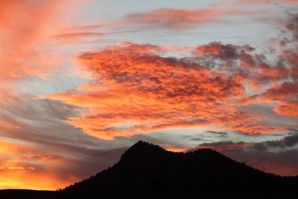 Sunset over Wyacca Buff, Flinders Ranges