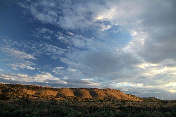 Sunset glow on the hills of Buckaringa Sanctuary