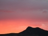 Sunset glow over Wyacca Bluff, Flinders Ranges