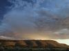 Dramatic cloud over Buckaringa's hills at sunset