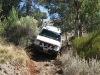 Negotiating a steep desent in Buckaringa's rugged south west.  Definitely low-range material