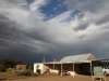 Storm clouds beyond the Buckaringa cottage.  We didn't get any rain but the town of Hawker and Craddock further north suffered flash flooding