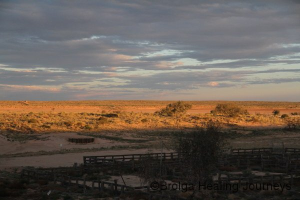 Sunset across Kalamurina.