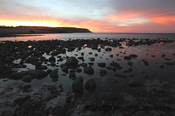Stokes Bay at sunset