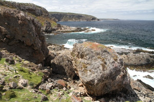 Rugged coastline near Admiral's Arch, Flinders Chase National Park