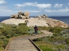 Nirbeeja approaches Remarkable Rocks, Flindes Chase Ntl Pk