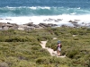 Nirbeeja admires the surf, Vivonne Bay Conservation Reserve