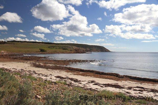 Serene Stokes Bay, north coastline of Kangaroo Island