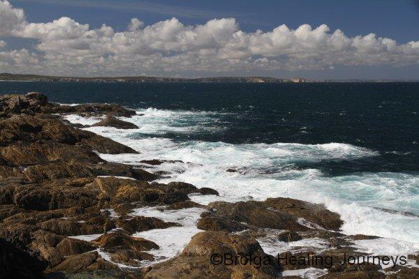 The pristine, high energy coastline near Vivonne Bay, Kangaroo Island