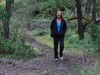 Nirbeeja walks through the enchanted, moss-lined forest near Browns Beach, Kangaroo Island