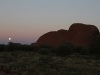 Full moon rises beside Kata Tjuta