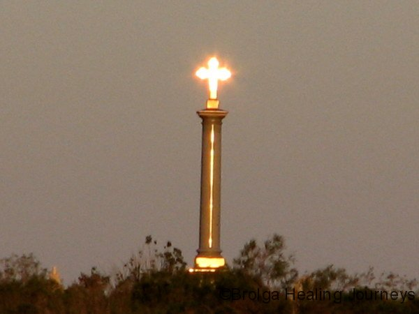 The monument at sunset.