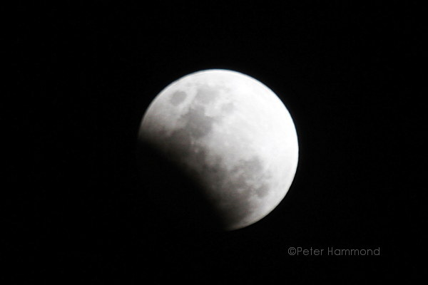Partial lunar eclipse seen from Alice Springs, 26 June 2010, 8.08PM Australian Central Standard Time