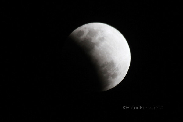 Partial lunar eclipse seen from Alice Springs, 26 June 2010, 8.26PM Australian Central Standard Time